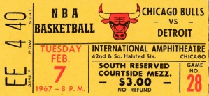 1967 Chicago Bulls vs. Detroit Pistons by Row One Brand