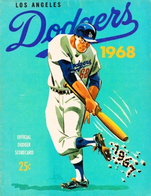 1968 Los Angeles Dodgers Scorecard  by Row One Brand