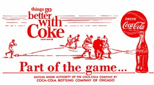 1968CokeBaseballAdPoster by Row One Brand