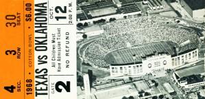 1968 Texas vs. Oklahoma by Row One Brand