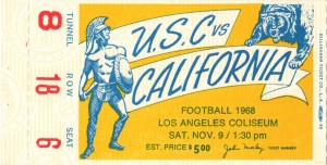 1968_College_Football_USC vs. California_Los Angeles Coliseum_Row One by Row One Brand