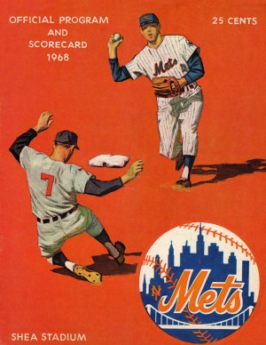 1968_Major League Baseball_New York Mets Scorecard_Shea Stadium_Queens New York_Row One by Row One Brand