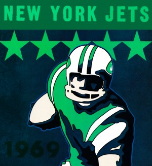 1969 new york jets by Row One Brand