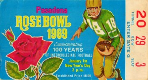 1969_College_Football_Rose Bowl_Ohio State vs. USC_Ohio State 27 17 Win_Pasadena_Row One by Row One Brand