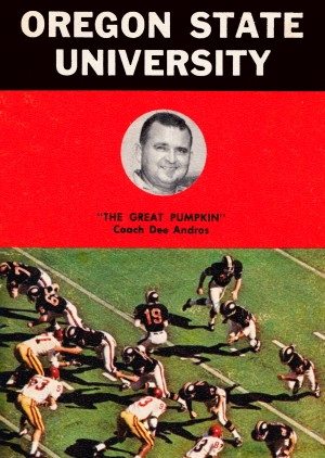 1970 oregon state osu beavers football coach dee andros photo by Row One Brand