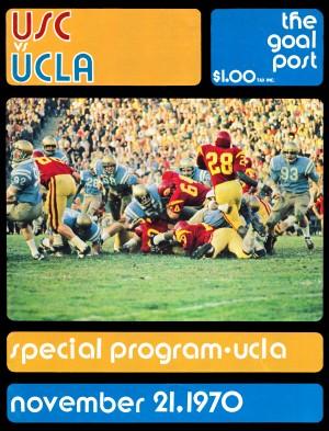 1970 usc ucla college football program canvas art by Row One Brand
