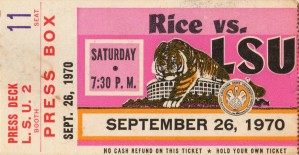 1970_College_Football_Rice vs. LSU_Baton Rouge_Row One Brand by Row One Brand