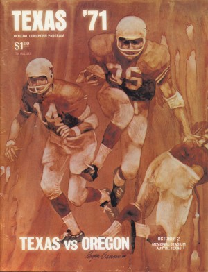1971 Texas Longhorns Football Program Cover Art Reproduction by Row One Brand