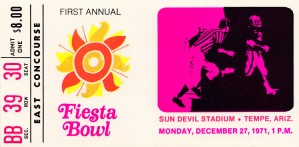 1971 first fiesta bowl florida state arizona state asu sun devils tempe by Row One Brand