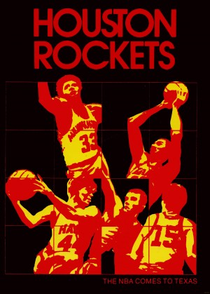 1971 houston rockets basketball art by Row One Brand