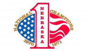 1971 nebraska cornhuskers football national champions poster by Row One Brand