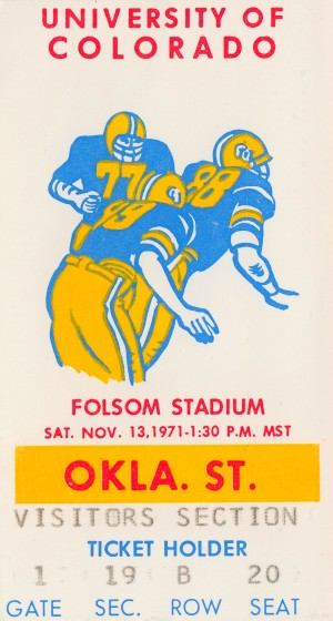 1971 Oklahoma State vs. Colorado by Row One Brand