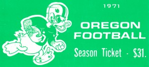 1971_College_Football_Oregon Season Ticket_College Ticket Stub Collection by Row One Brand