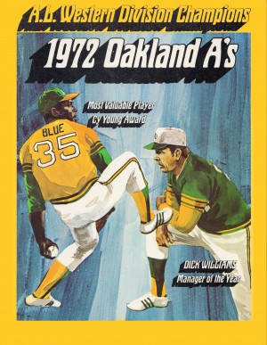 1972 oakland athletics al western division champions poster by Row One Brand