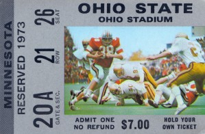 1973 ohio state buckeyes football ohio stadium columbus by Row One Brand