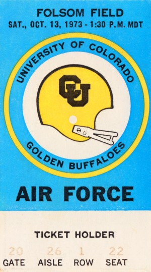 1973 Air Force vs. Colorado by Row One Brand