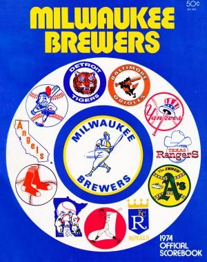 1974 Milwaukee Brewers Scorebook by Row One Brand