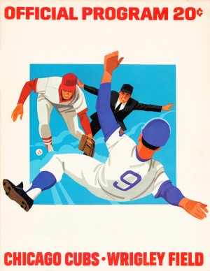 1974 chicago cubs program wall art by Row One Brand