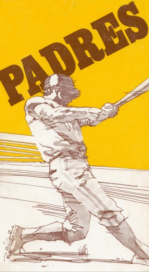 1974 san diego padres art reproduction by Row One Brand