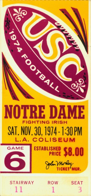 1974 USC vs. Notre Dame by Row One Brand