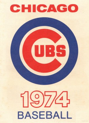 1974_Major League Baseball_Chicago Cubs_Reproduction Art_Row One Brand by Row One Brand