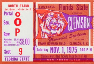 1975 Florida State vs. Clemson by Row One Brand