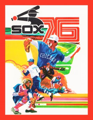 1976 chicago white sox retro baseball poster by Row One Brand