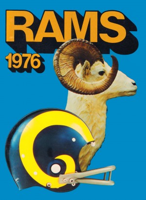 1976 rams vintage nfl poster by Row One Brand