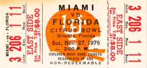 1976 Miami vs. Florida by Row One Brand