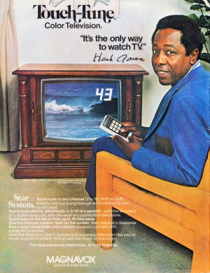 1976_Magnavox_Television_Vintage_TV_Ad_Hank_Aaron_Sports_Advertisement_Poster by Row One Brand