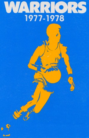 1977 golden state warriors basketball poster by Row One Brand