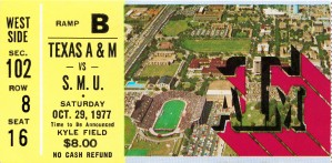1977 texas am aggies football tamu college station kyle field by Row One Brand