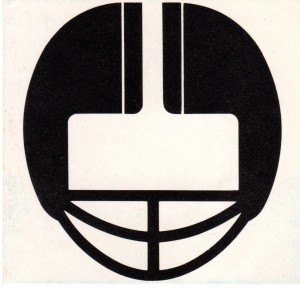 Football Helmet Art 1977 by Row One Brand