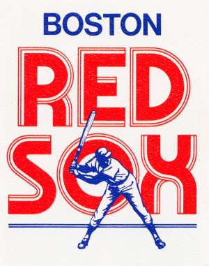 1978 boston red sox vintage art by Row One Brand