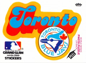 1978 toronto blue jays fleer decal baseball art reproduction poster by Row One Brand