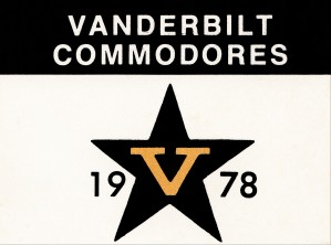 1978 vanderbilt commodores vintage college art by Row One Brand