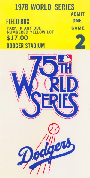 1978 world series ticket stub posters by Row One Brand