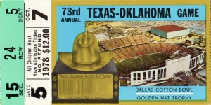 1978_College_Football_Texas vs. Oklahoma_Cotton Bowl_Dallas_Row One by Row One Brand