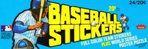 1979 fleer baseball sticker wax box canvas art by Row One Brand