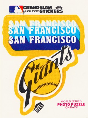 1979 fleer hi gloss san francisco giants sticker poster by Row One Brand