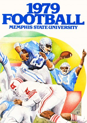 1979 memphis state university football by Row One Brand
