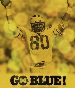 1979 michigan football go blue by Row One Brand