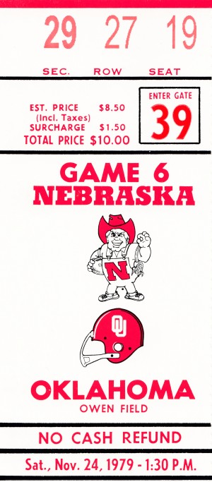1979 oklahoma sooners football ticket art by Row One Brand