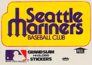 1979 seattle mariners fleer decal wall art poster metal sign decals row one vintage by Row One Brand