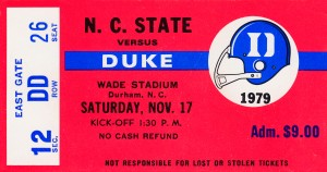 1979 Duke vs. NC State by Row One Brand