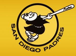 1980 san diego padres logo wall art by Row One Brand