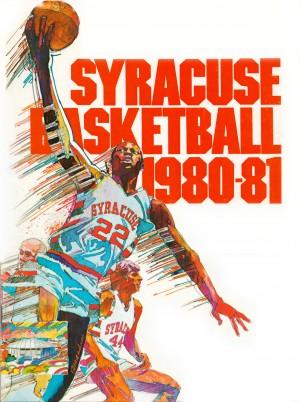 1980 syracuse orange basketball poster by Row One Brand