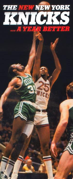 1980 new york knicks poster bill cartwright cedric maxwell by Row One Brand
