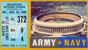 1980_College_Football_Army vs. Navy_Veterans Stadium_College Football Art (1) by Row One Brand