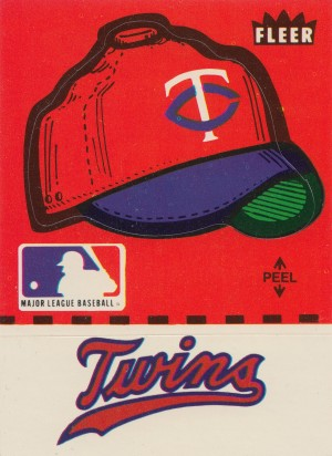 1981 Fleer Decal Minnesota Twins Fleer Ballcap Art Reproduction Poster by Row One Brand